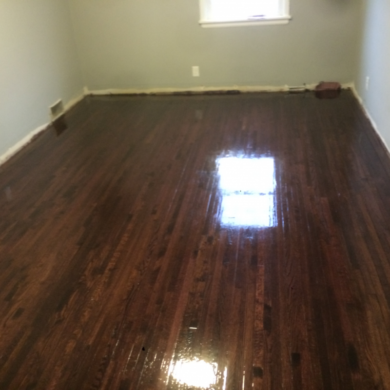 Dark walnut stained hardwood floors in St. Paul - Hardwood ...