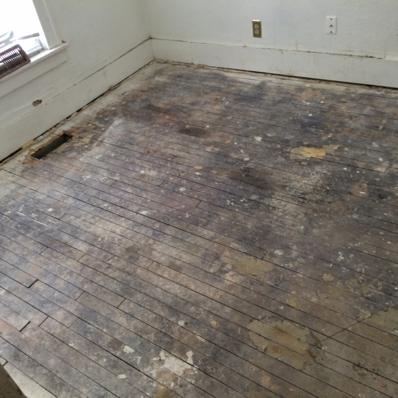 Hardwood floor refinish in an old house in north for Floors floors floors