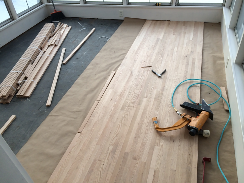 Installation Of Red Oak In Cottage Grove Mn Hardwood